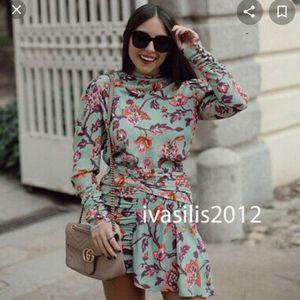 💥1 left💥Zara draped printed floral top